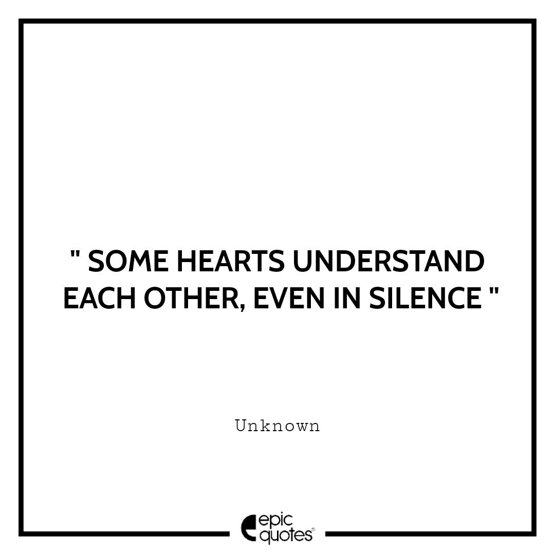 Some hearts understand each other, even in silence