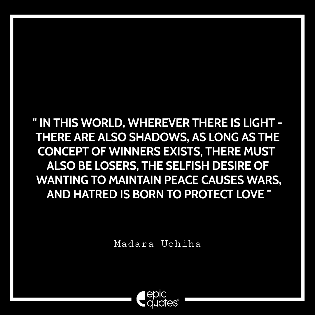 Best Madara Uchiha Quotes