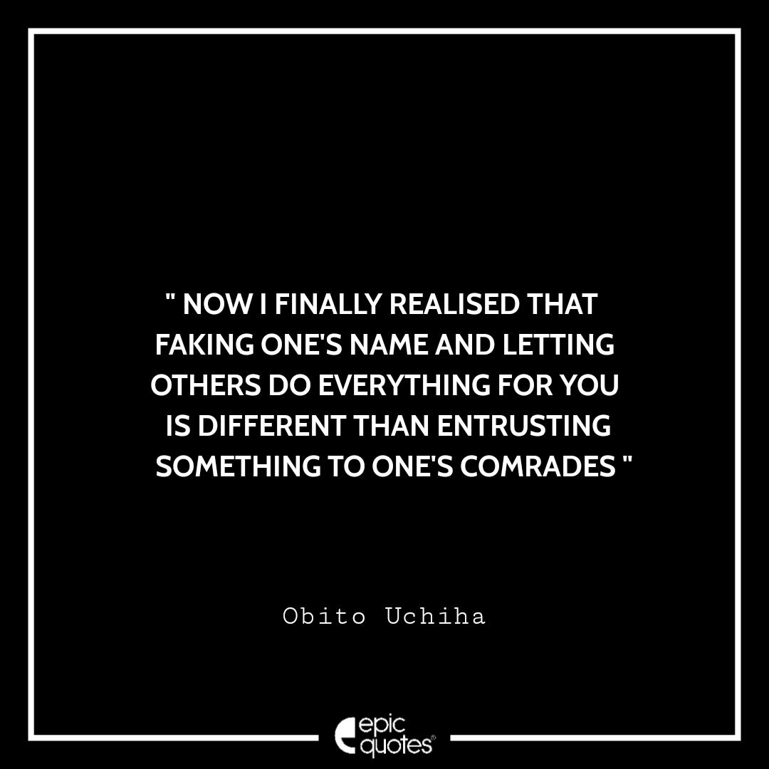 Best Obito Uchiha quotes