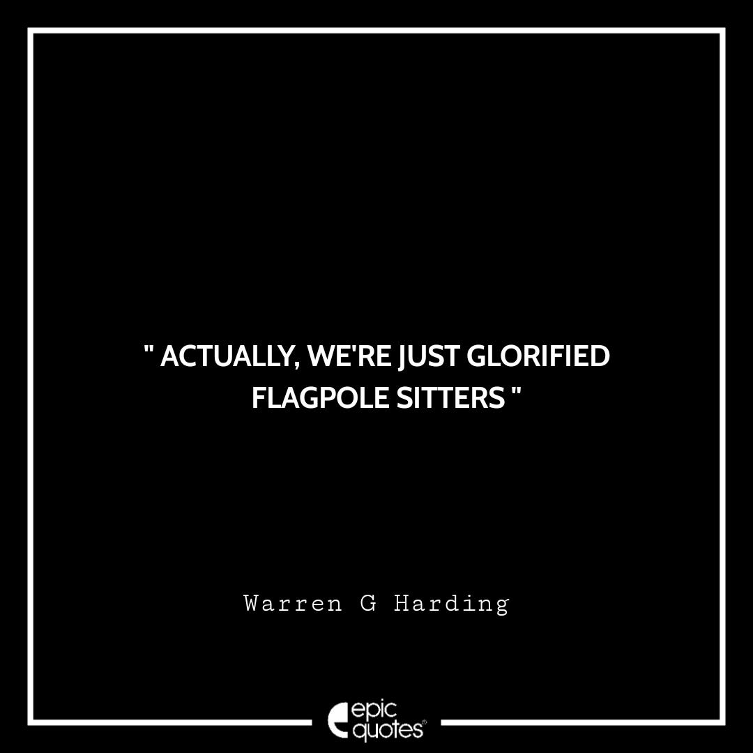 Best Warren G. Harding quotes to read